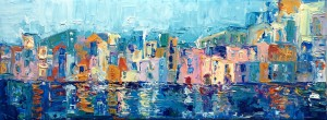painting of the Bay of Naples by Adriana Dziuba